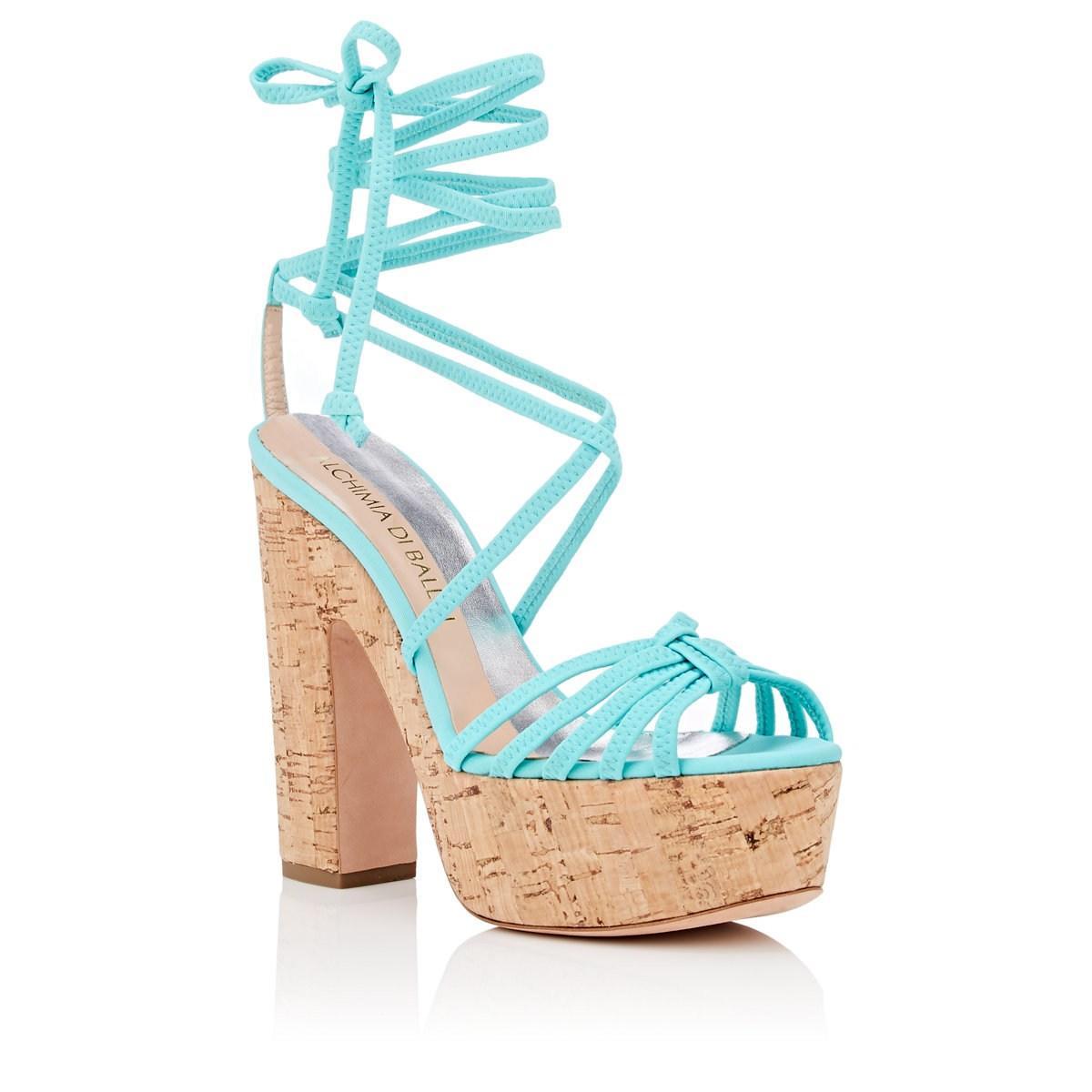 811c2bd068a Alchimia Di Ballin - Blue Tara Neoprene Ankle-wrap Platform Sandals - Lyst.  View fullscreen