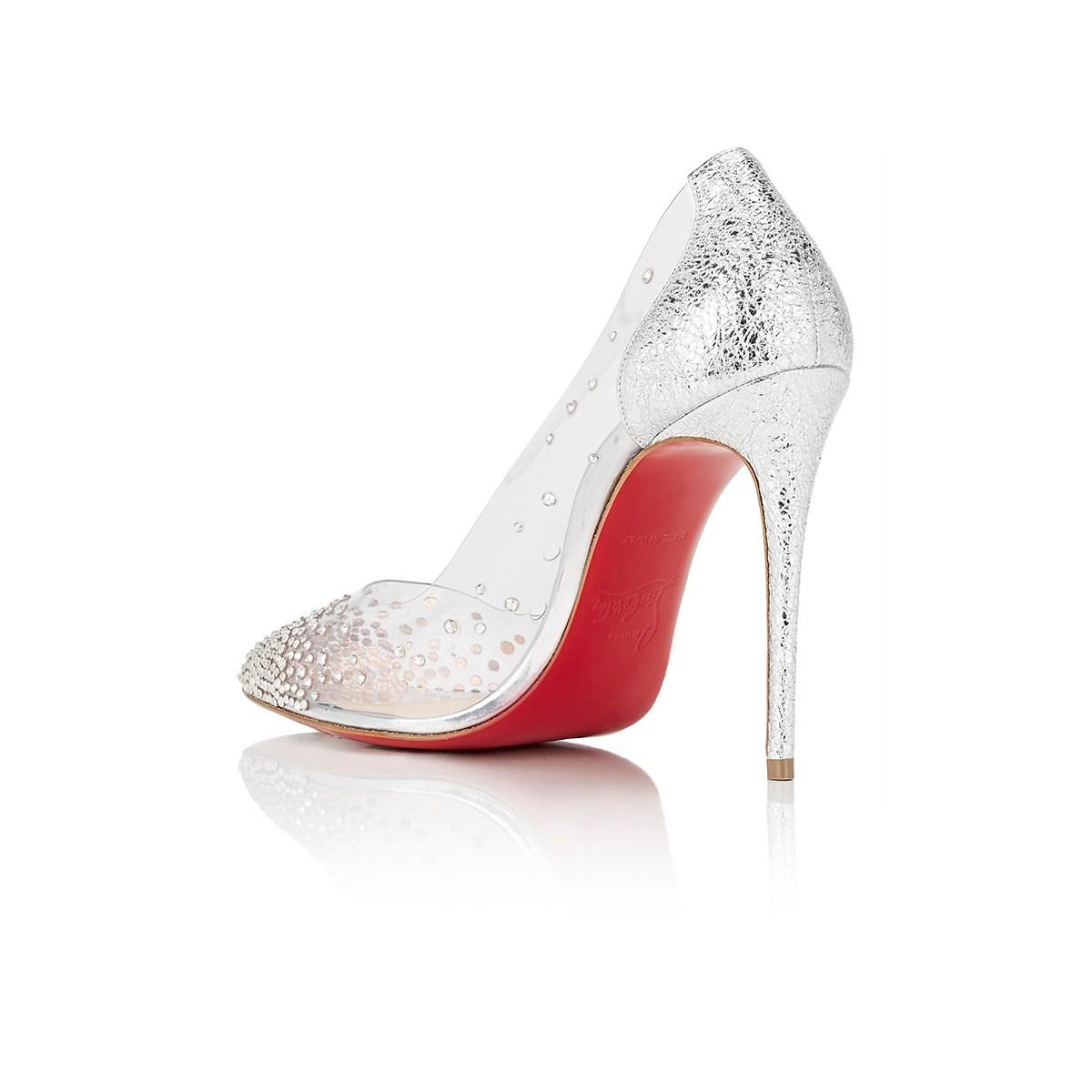 72383388e23 Lyst - Christian Louboutin Degrastrass Pvc   Specchio Leather Pumps ...