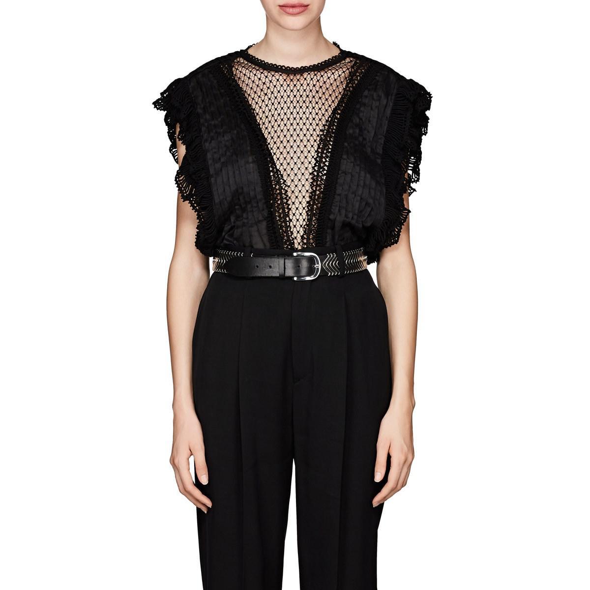 3f1f1fc251728e Isabel Marant. Women's Black Roya Organza Blouse. $825 From Barneys New York