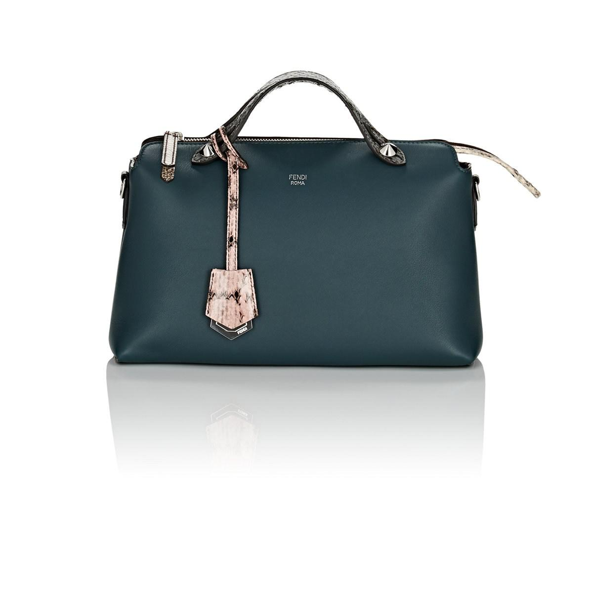 59849c2e0 ... coupon code for fendi by the way small leather shoulder bag in green  lyst f4325 88674 ...