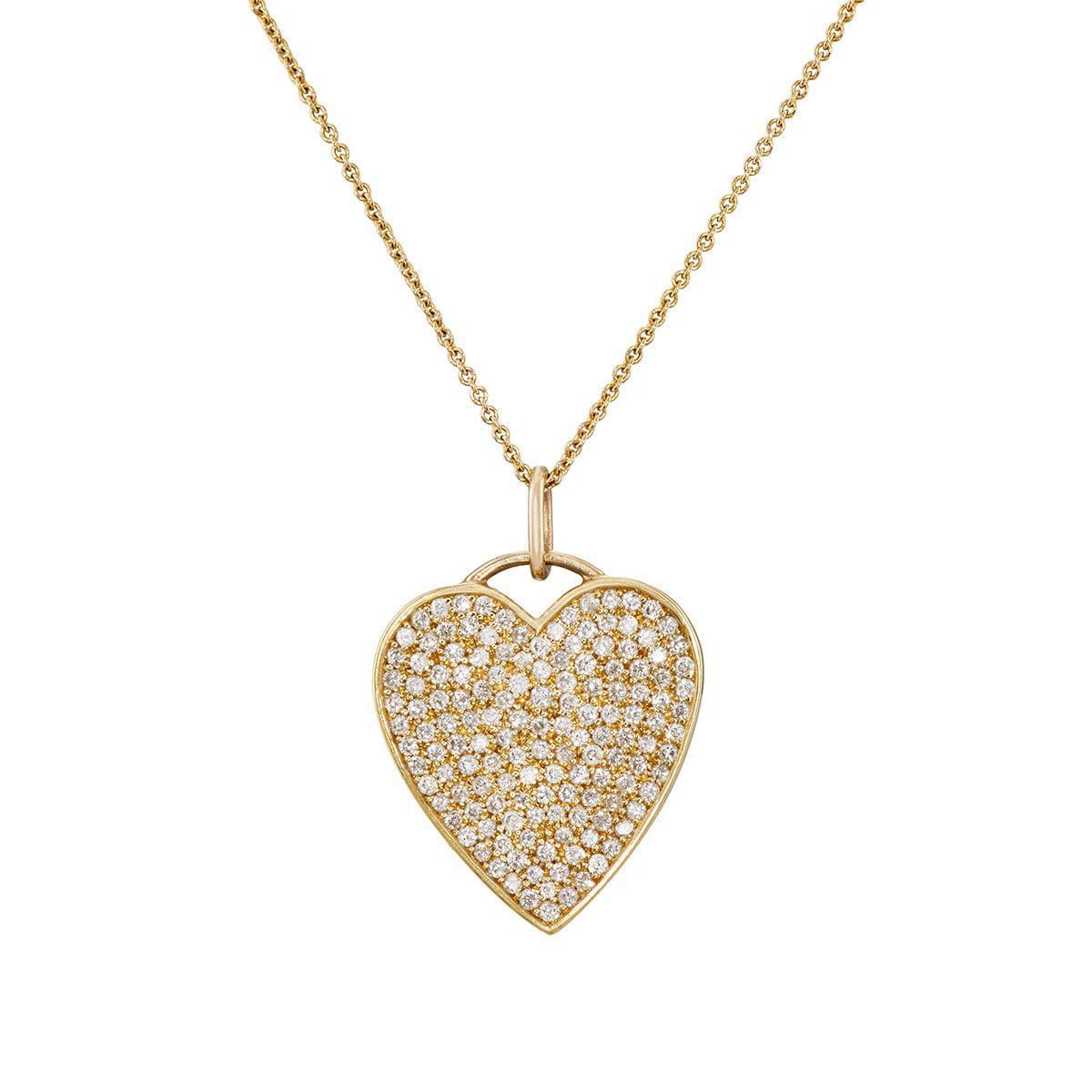 Jennifer Meyer Womens Onyx & Diamond Heart Pendant Necklace KqS1HDrv