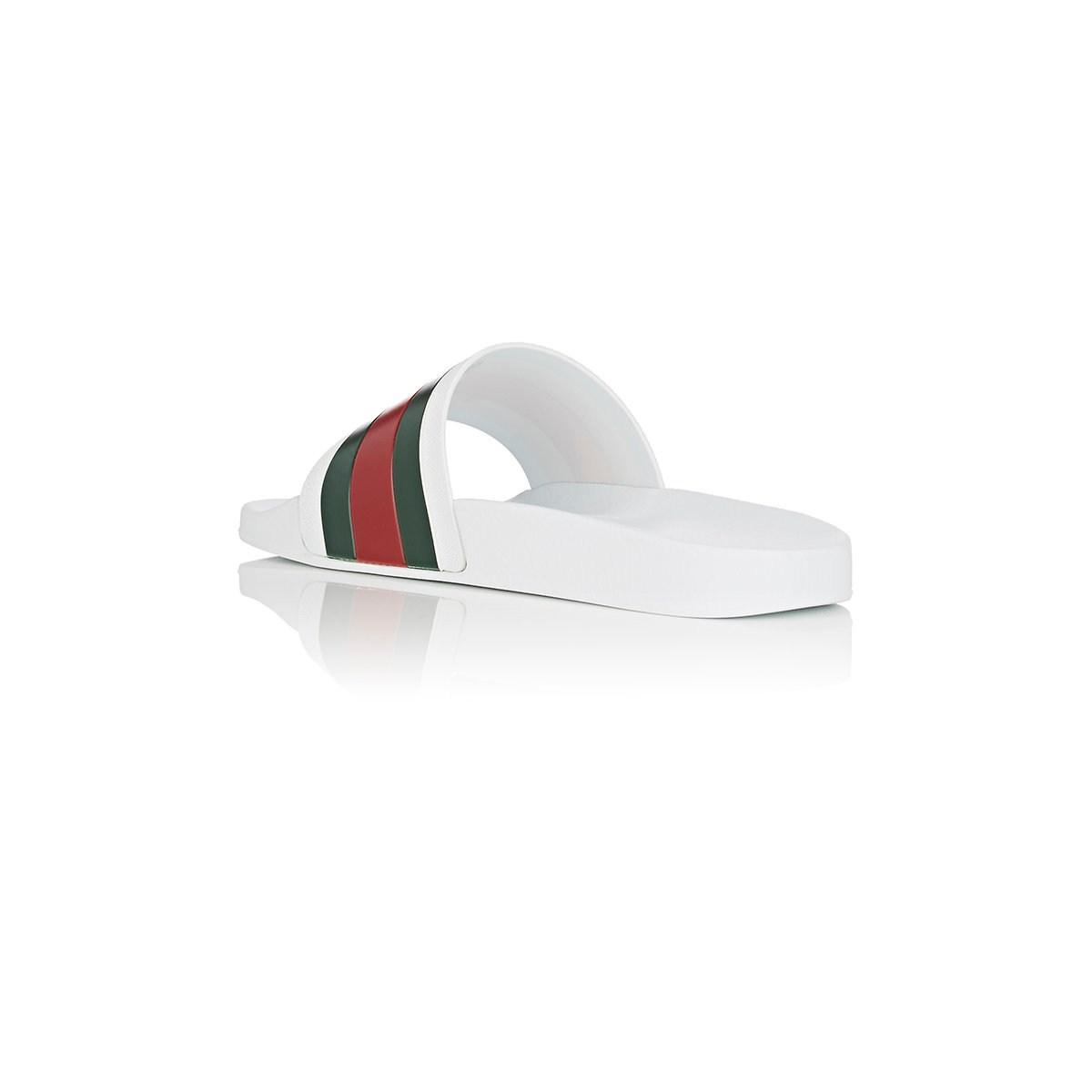28ac6d18385d Gucci White Pursuit Slides in White for Men - Save 37% - Lyst