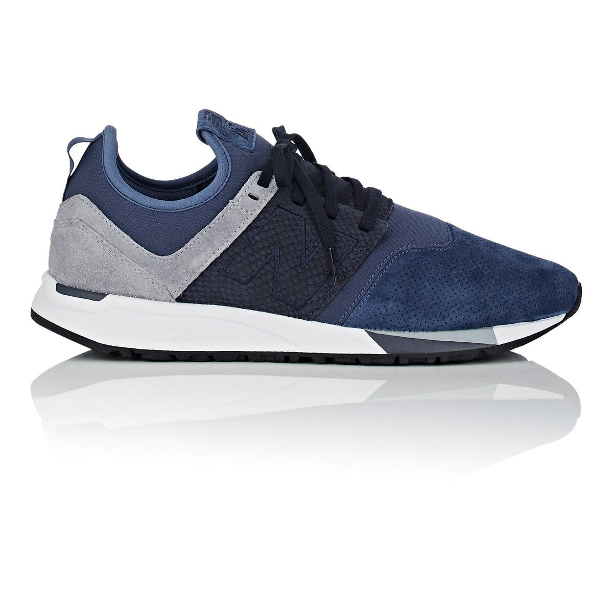860a9f9ab0503 New Balance 247 Luxe Nubuck & Neoprene Sneakers in Blue for Men - Lyst