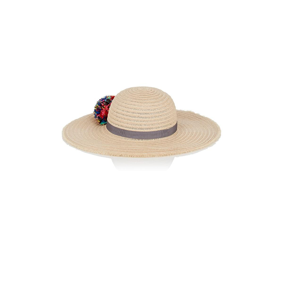 Cheap Price From China Discount Comfortable Honey Feather-embellished Woven Paper Hat - Ivory Eugenia Kim Free Shipping Reliable ikItM