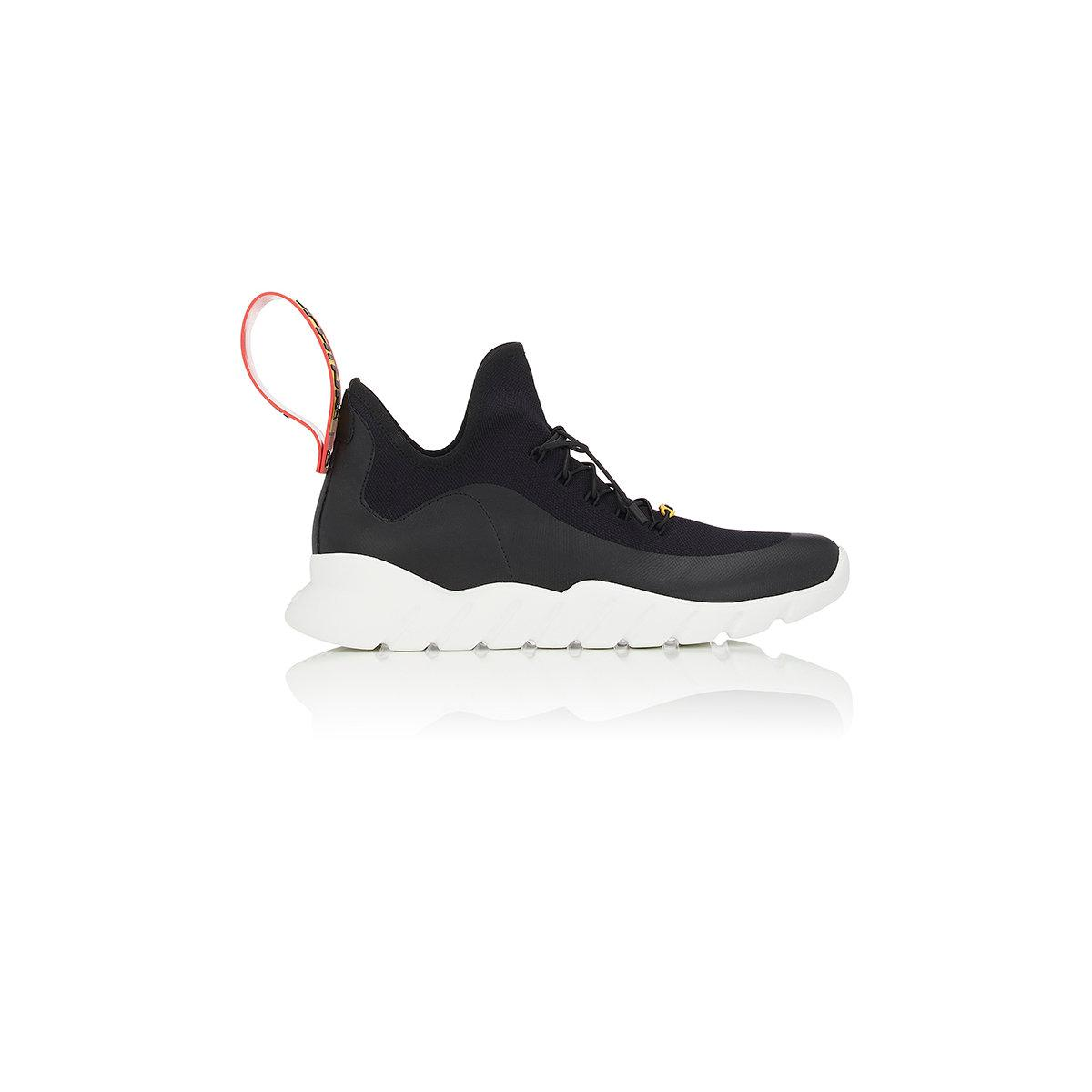 Mens Rubber-Strap Tech-Knit Sneakers Fendi ZrSuq3EFXy