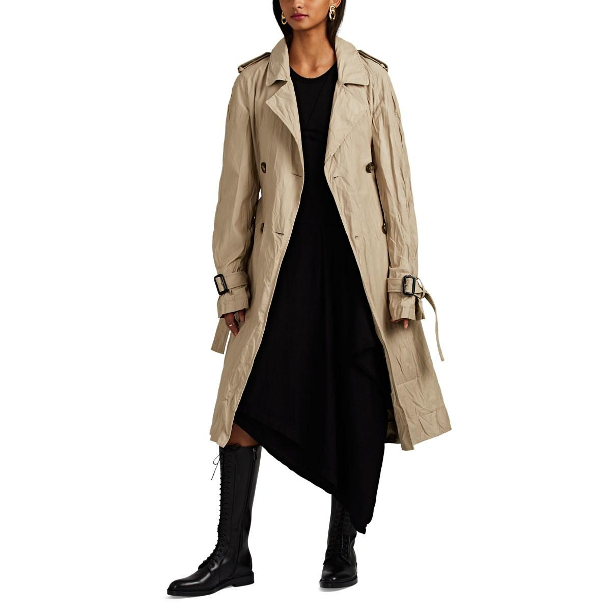 Lyst - JW Anderson Crinkled Double-breasted Trench Coat in