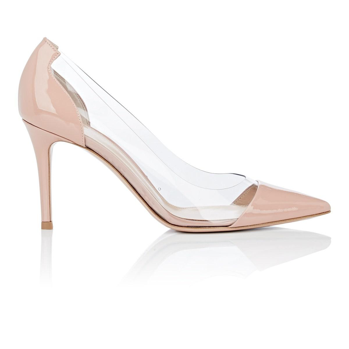 fd31a6be84fd Lyst - Gianvito Rossi Vernice Patent Leather   Pvc Pumps in Pink