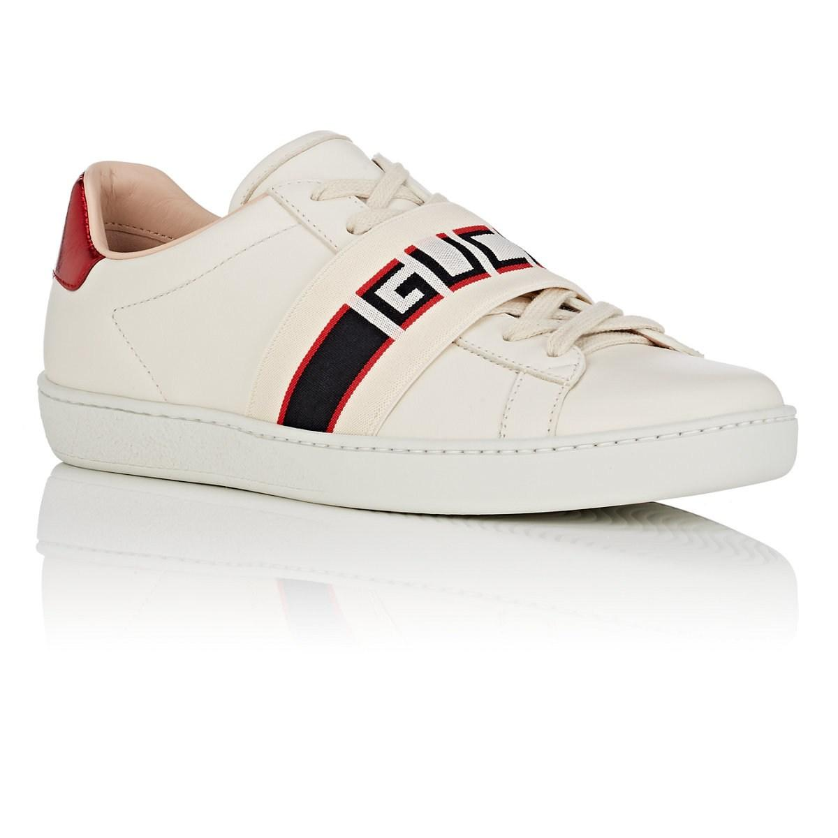 9aa893d02f7 Gucci - White New Ace Leather Sneakers - Lyst. View fullscreen