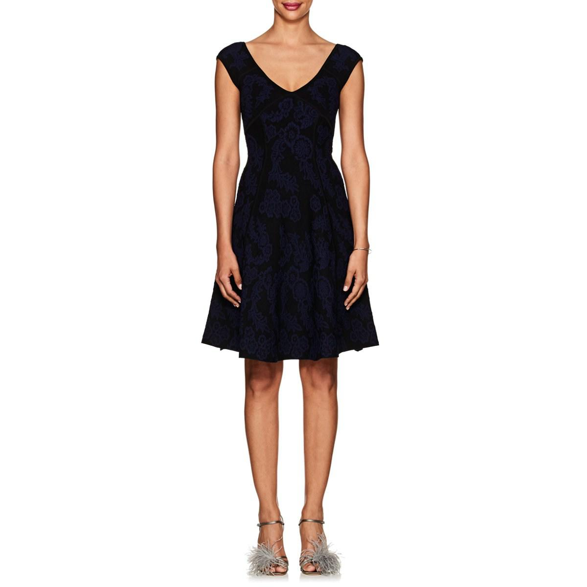 Womens Jacquard Fit & Flare Dress Zac Posen Kzr1xm6
