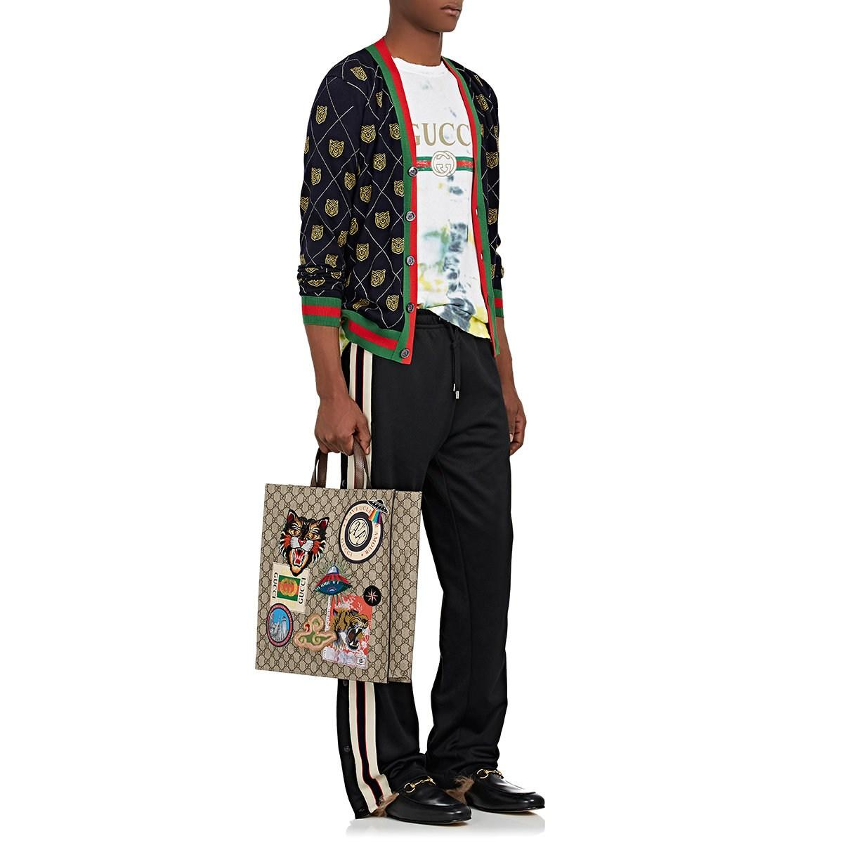 402f82dbdfba Gucci - Natural Appliquéd GG Supreme Shopper Tote Bag for Men - Lyst. View  fullscreen