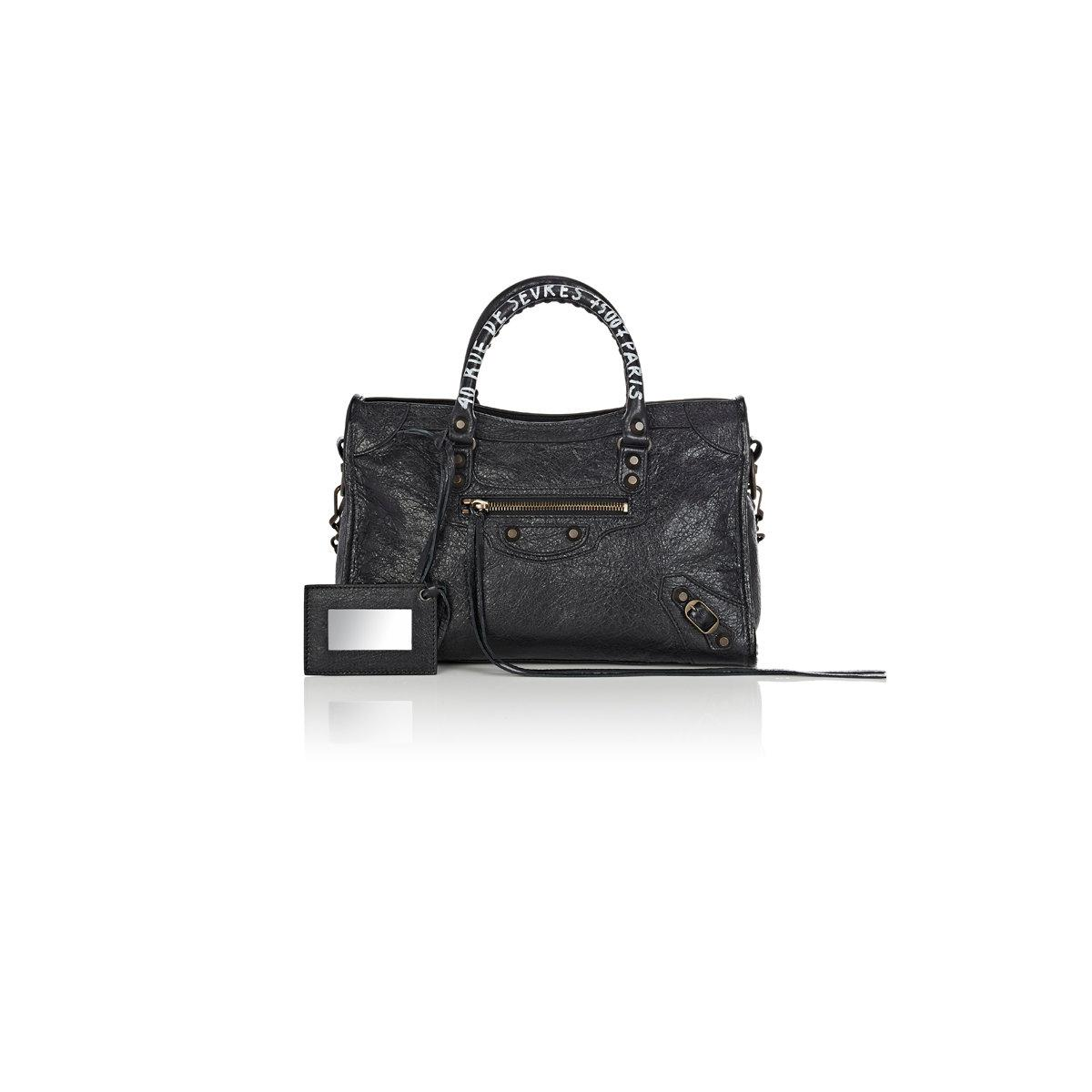 94347c54a4 Lyst - Balenciaga Arena Leather Classic City Small Bag in Black
