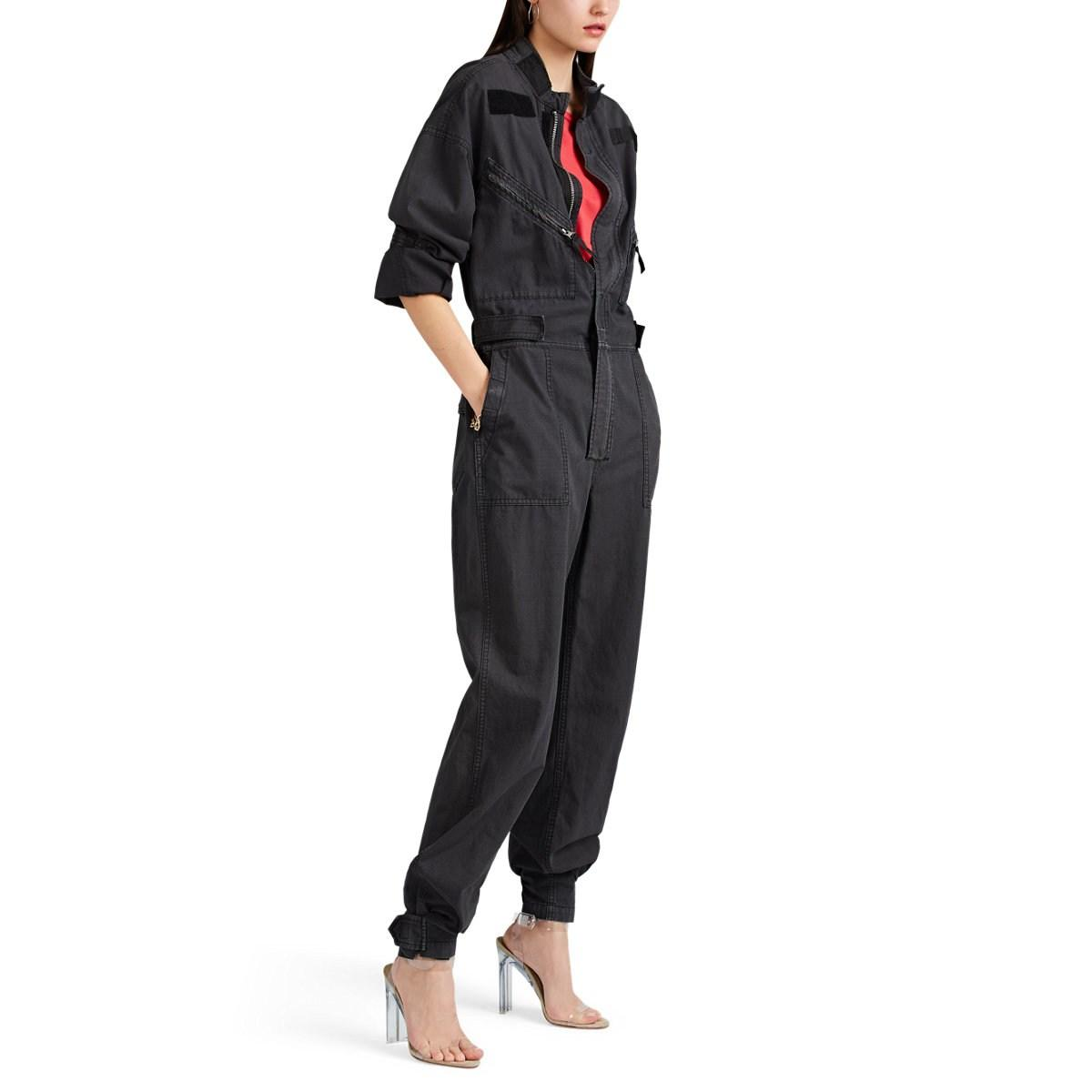 2dc3eb1a68 Lyst - RE DONE Cotton Ripstop Jumpsuit in Black