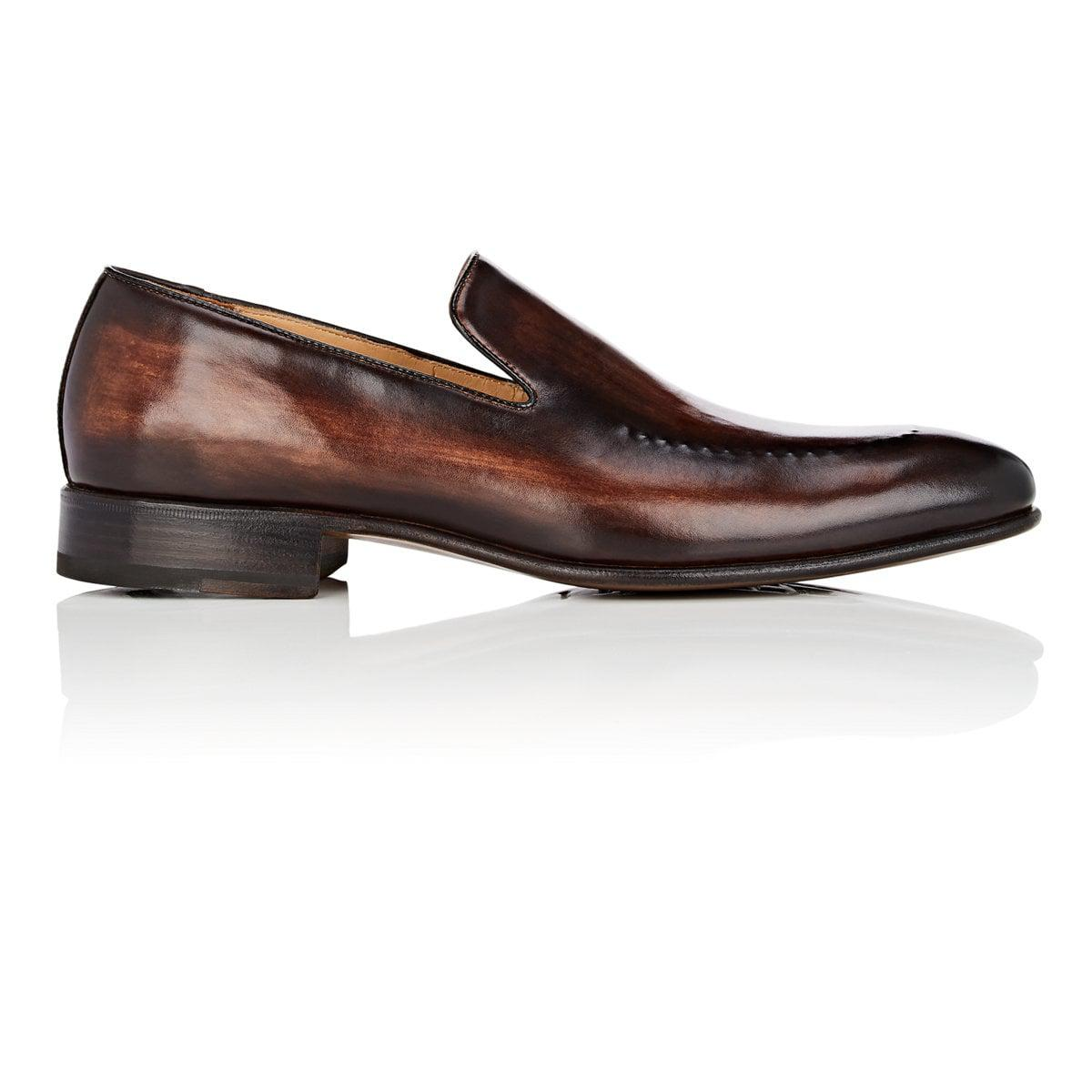 c6807e93d49 Lyst - Harris Stitch-detail Leather Venetian Loafers in Brown for Men