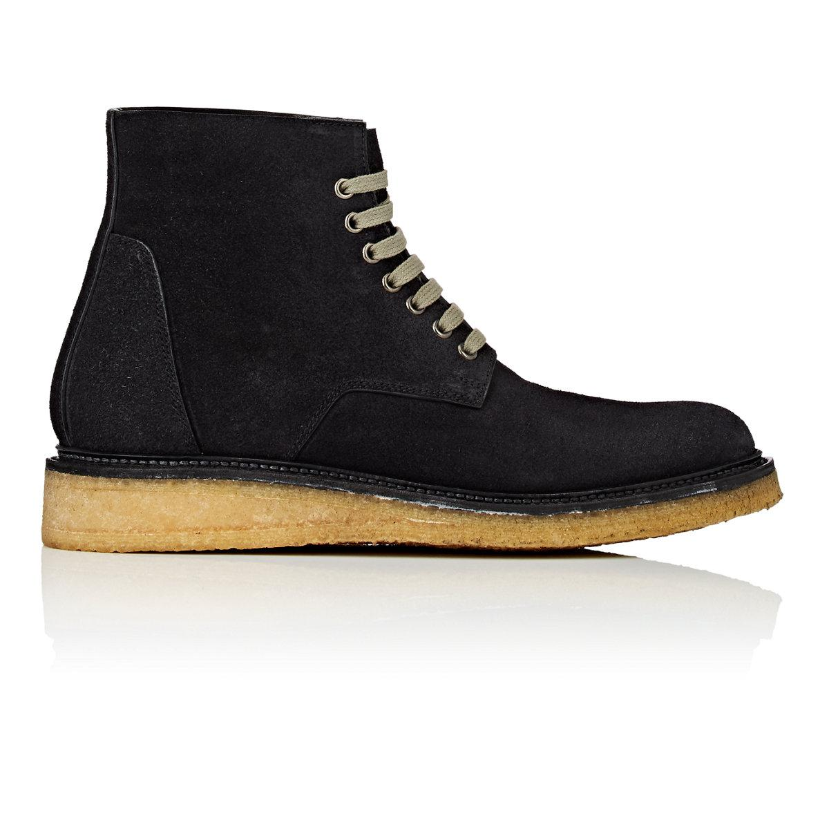 Mens Reverse Leather Hiker Boots Rick Owens Outlet For Sale 4e1DV