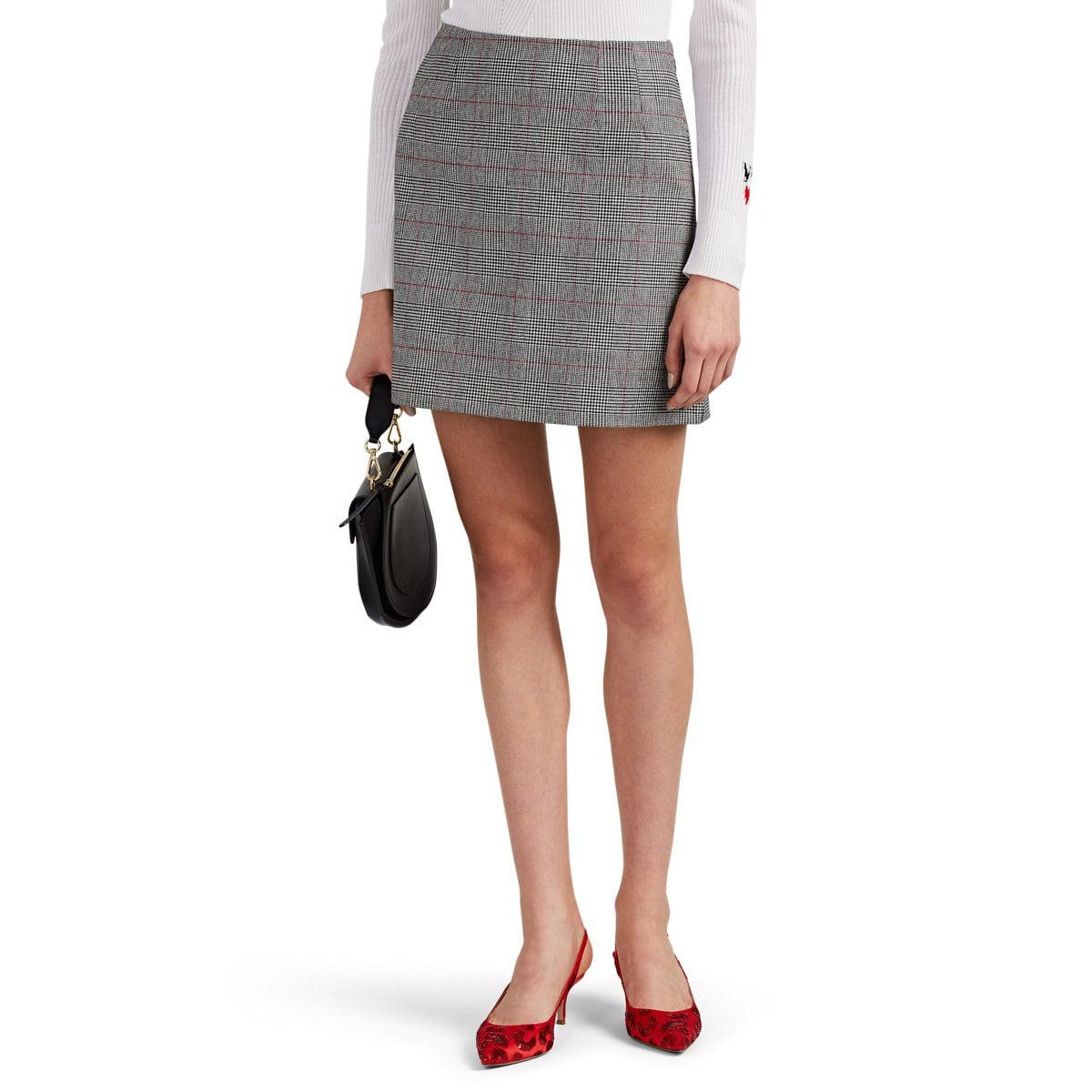 c4c7cd2c4d Vivetta Yeames Metallic Checked Miniskirt in Gray - Lyst