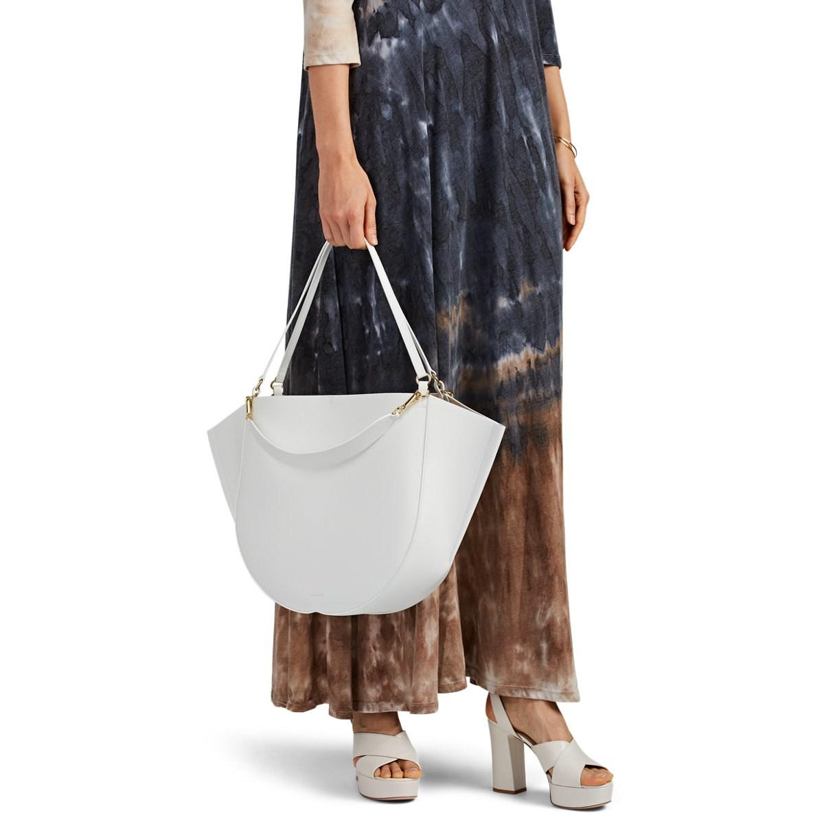 5d7d3988bf Wandler White Mia Leather Tote Bag in White - Save 28% - Lyst