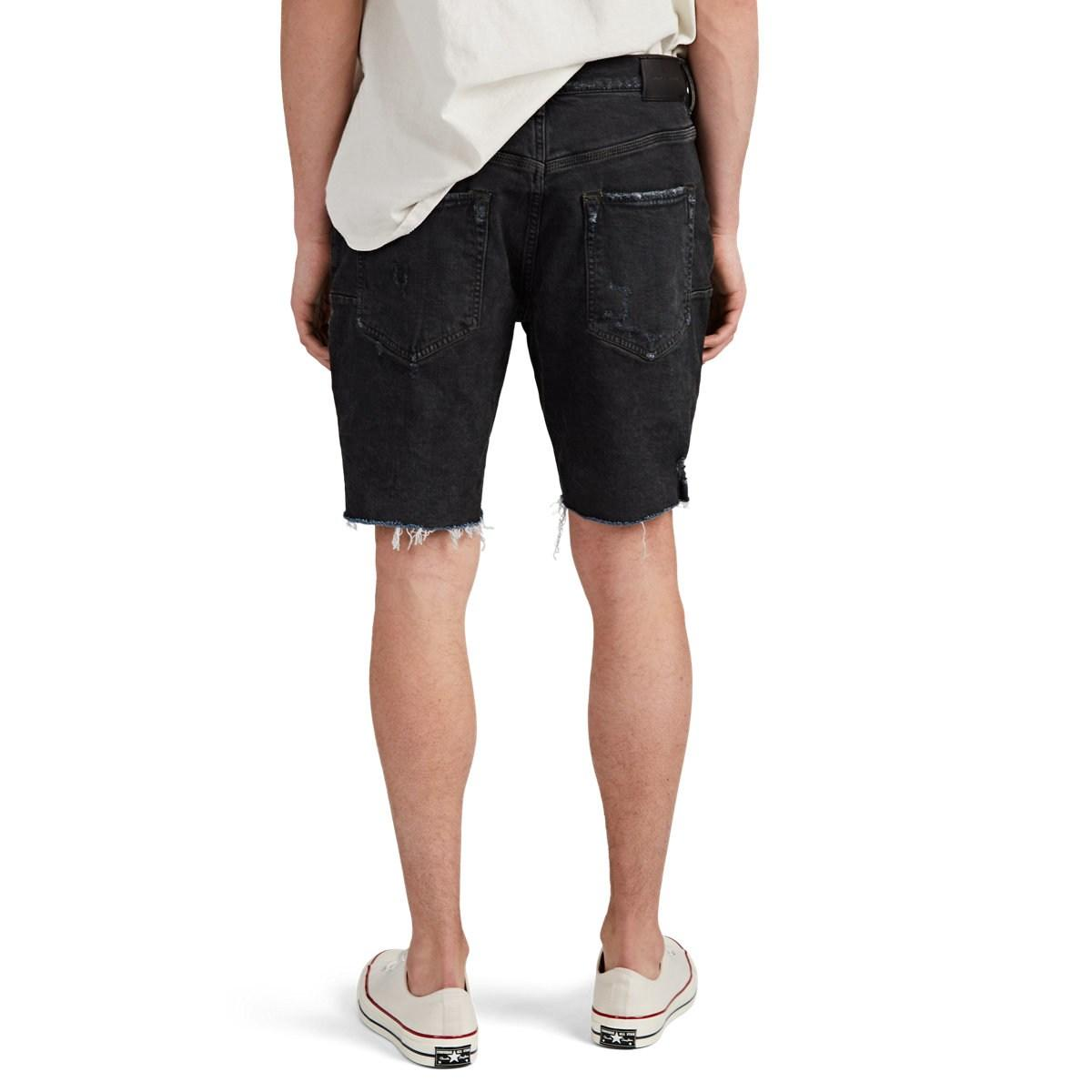 0b7504969724 Purple - Black Dyed Distressed Denim Cutoff Shorts for Men - Lyst. View  fullscreen