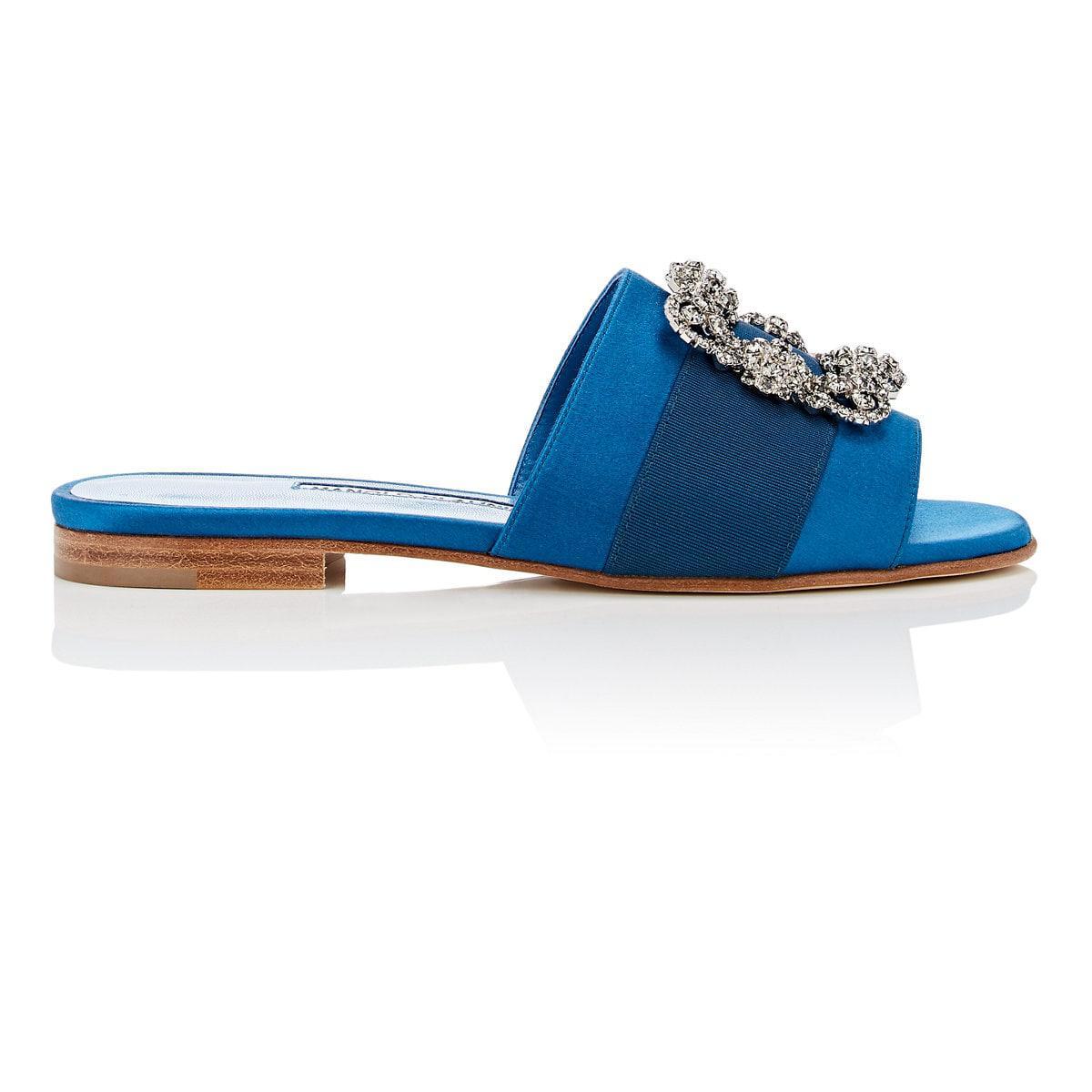 outlet websites outlet low price Manolo Blahnik Martamod Satin Slide Sandals gscpj82wUL