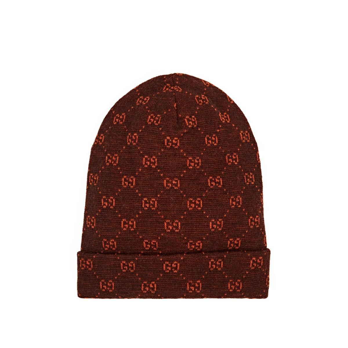 f8ff5ed08f1 Lyst - Gucci GG Logo Alpaca-wool Beanie in Brown for Men