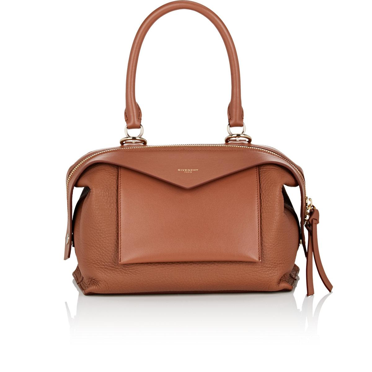 72c1dc8f46 Lyst - Givenchy Sway Small Leather Bag in Brown