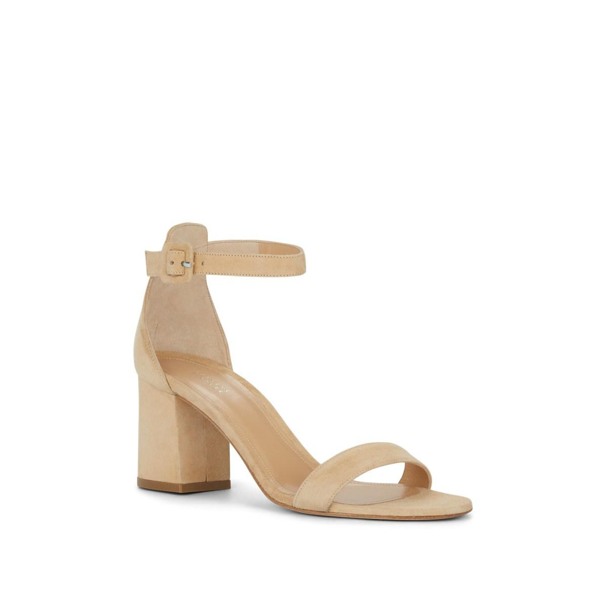 bb8a70a6eea6 Lyst - Barneys New York Chunky-heel Suede Sandals in Natural