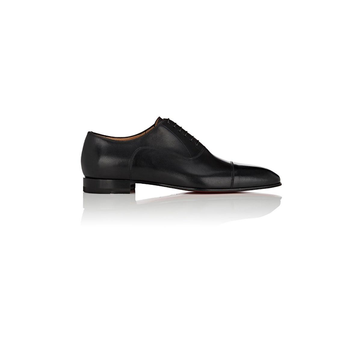 09c2148df22 Lyst - Christian Louboutin Greggo Leather Balmorals in Black for Men