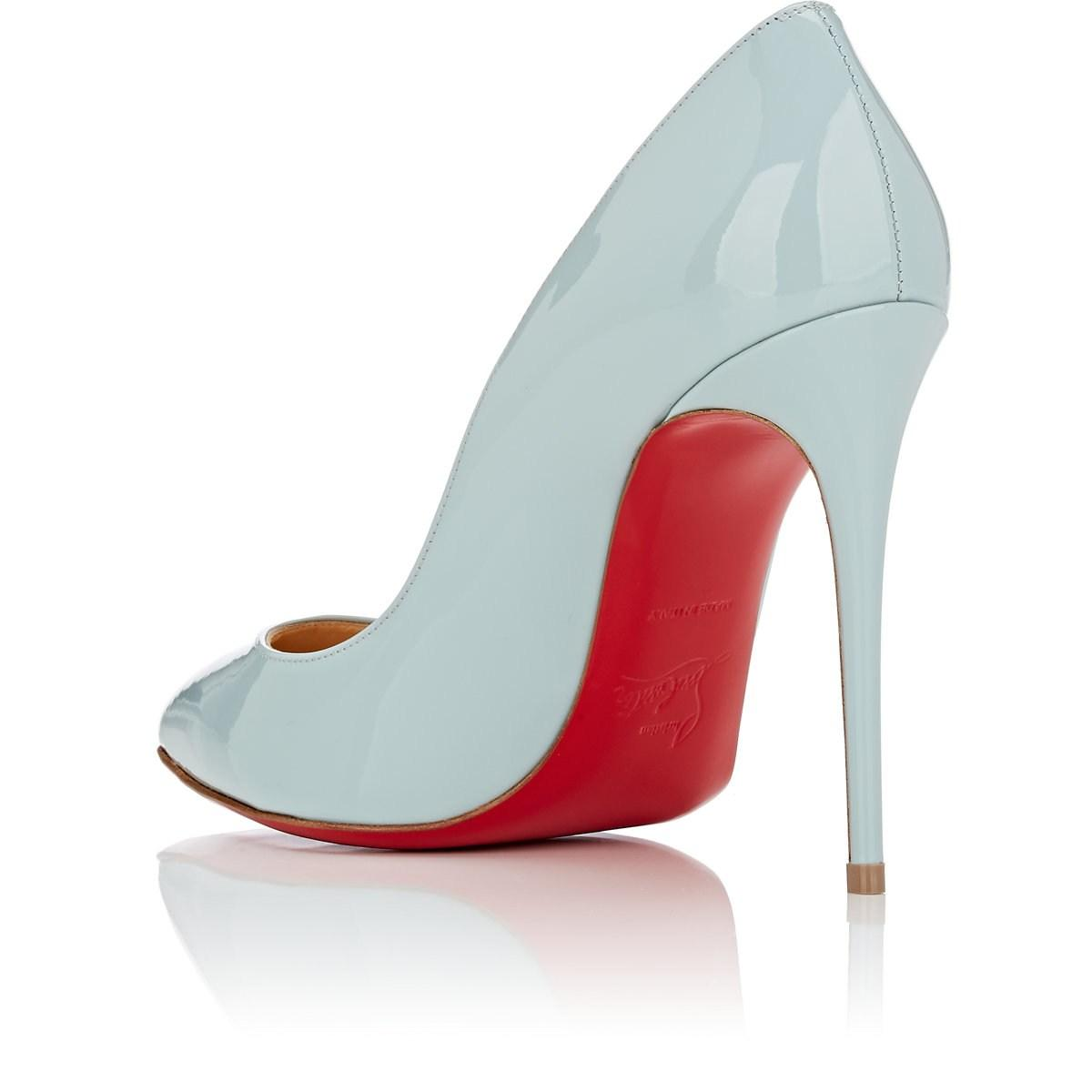 3f72ece4cc85 Christian Louboutin Pigalle Follies Patent Leather Pumps in Blue - Lyst