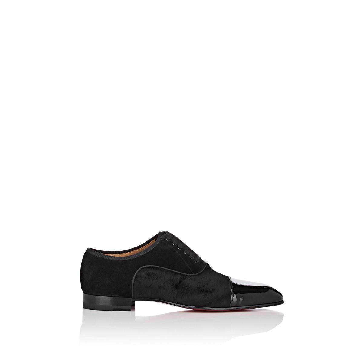 Sale Cheapest Mens Greggo Flat Suede & Velvet Balmorals Christian Louboutin Buy Cheap Geniue Stockist Free Shipping Deals Buy Cheap Price Cheap on6S5XMs