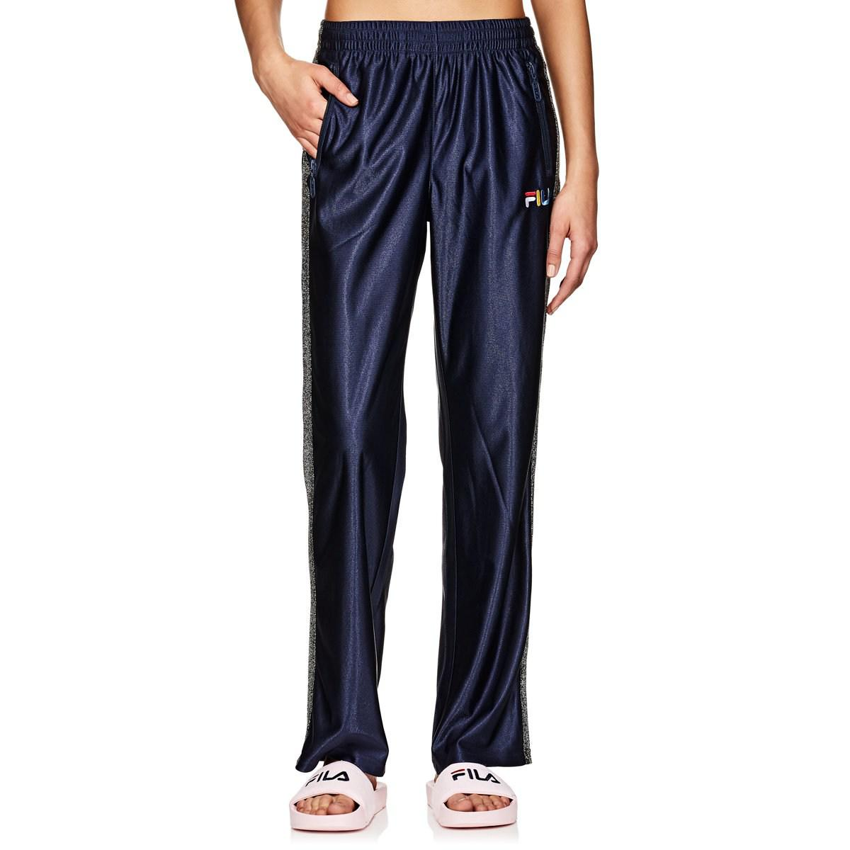 1c79398643cf8 Fila Logo Sparkly-striped Pants in Blue - Lyst