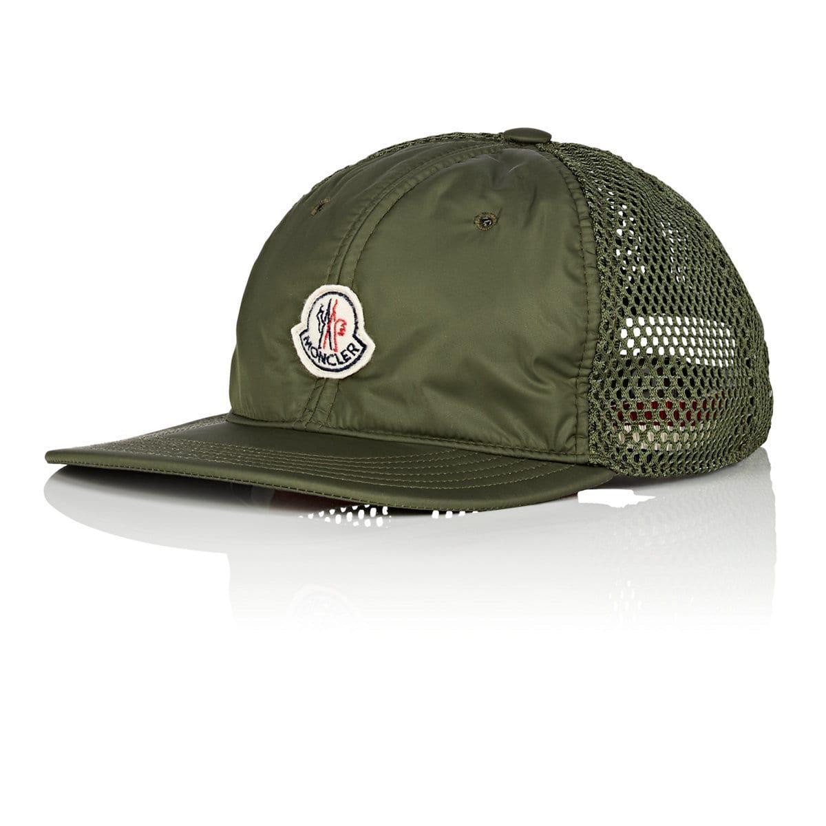 00cc2a772dc Lyst - Moncler Logo Mesh-back Trucker Hat in Green for Men