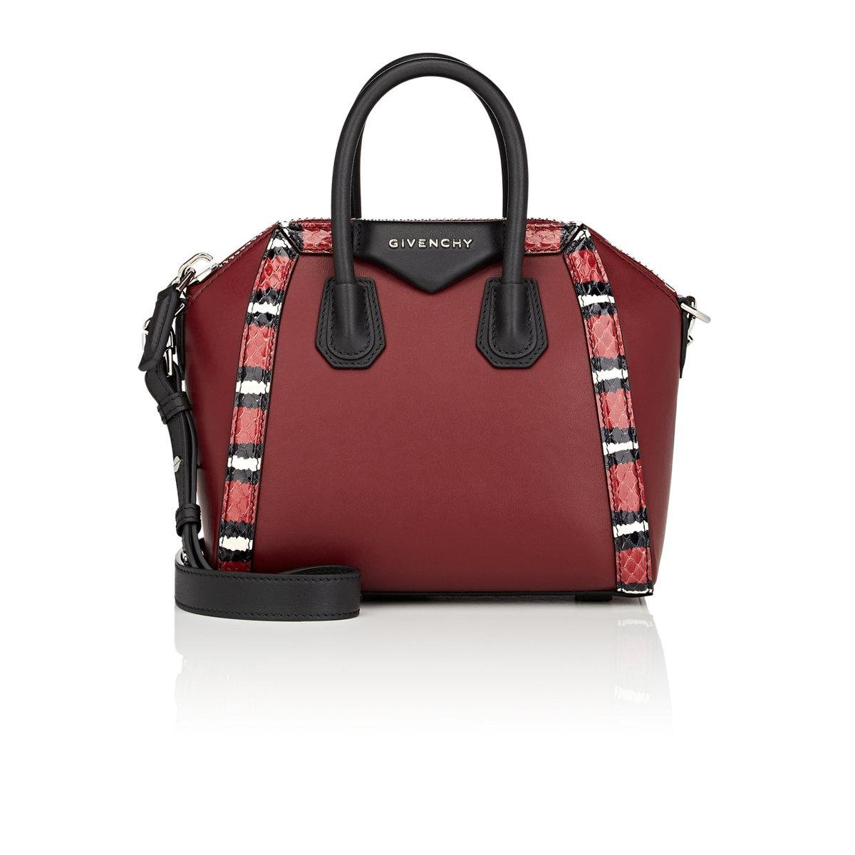 ad1619620e Lyst - Givenchy Antigona Mini Leather Duffel Bag in Red
