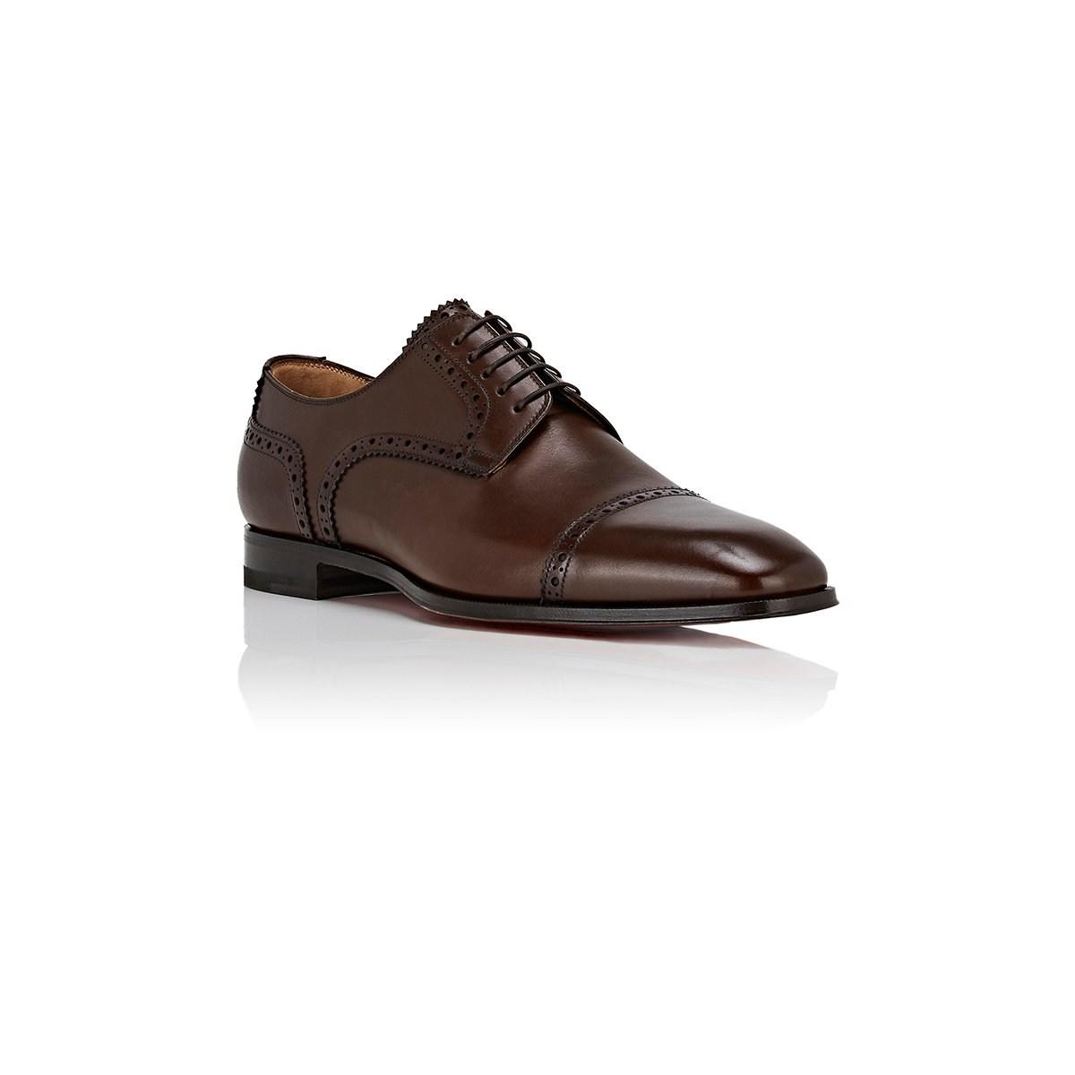 81cf218b6ee3 Christian Louboutin - Brown Cousin Charles Flat Leather Bluchers for Men -  Lyst. View fullscreen