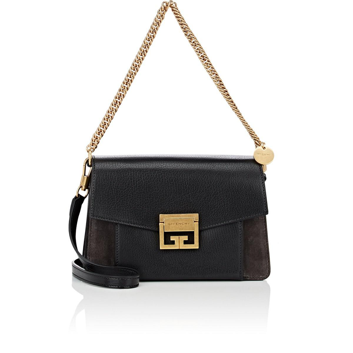 a1d11bb56897c Givenchy - Black Gv3 Small Leather   Suede Shoulder Bag - Lyst. View  fullscreen