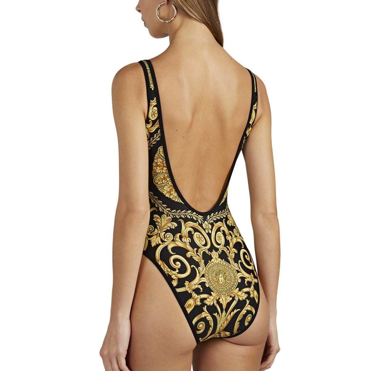 5f089fd9b2392 ... Versace - Black Baroque-print One-piece Swimsuit - Lyst. Visit Barneys  New York. Tap to visit site