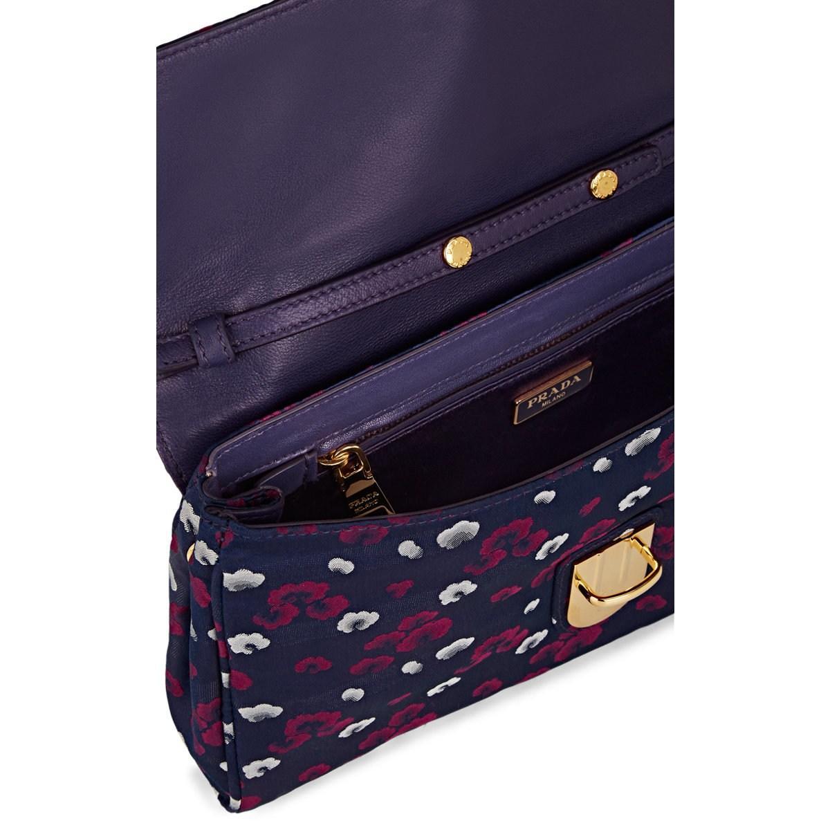 275d666a808 Prada - Purple Donna Floral Print Shoulder Bag - Lyst. View fullscreen