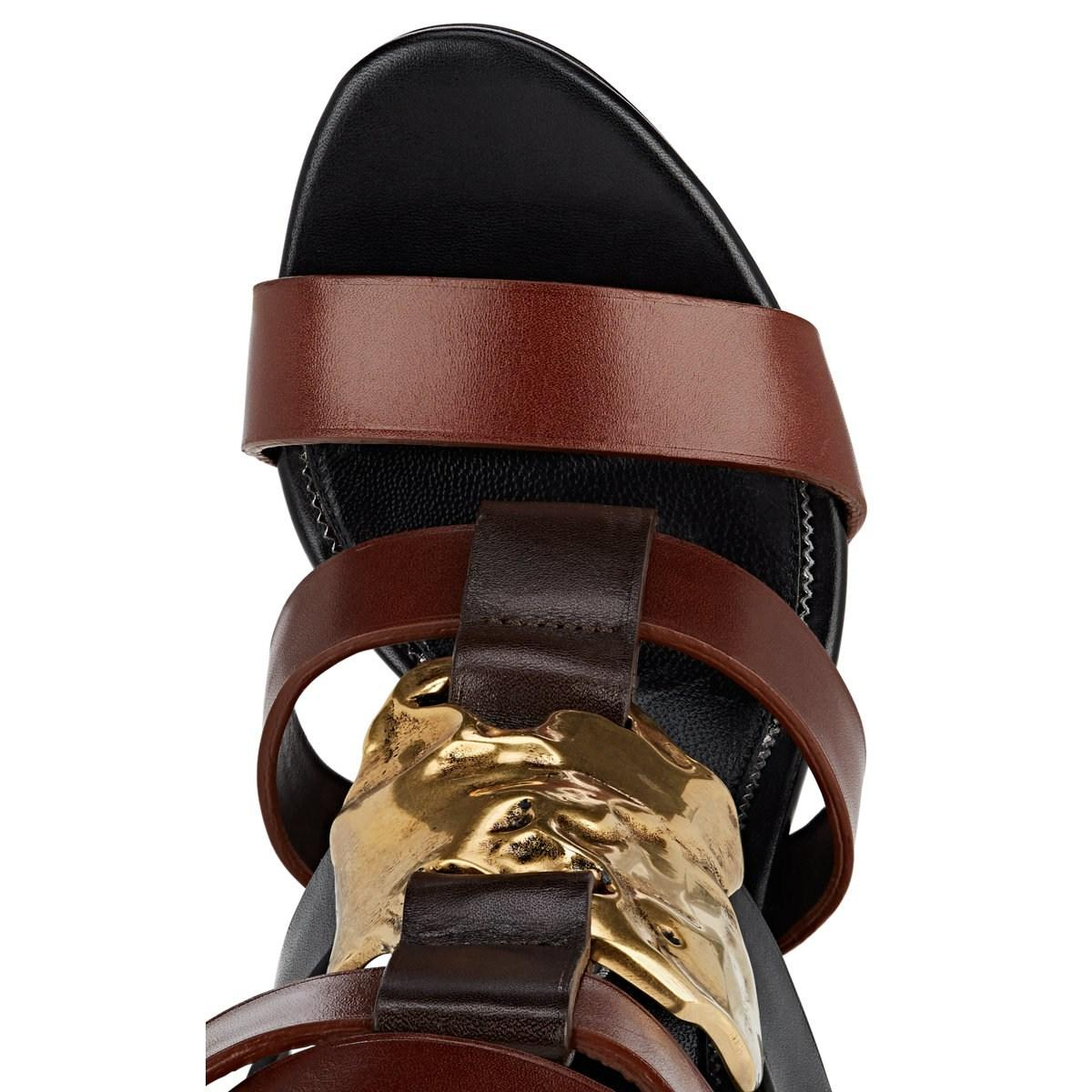 d5d9814631a Tom Ford - Brown Sculpted-heel Leather Sandals - Lyst. View fullscreen