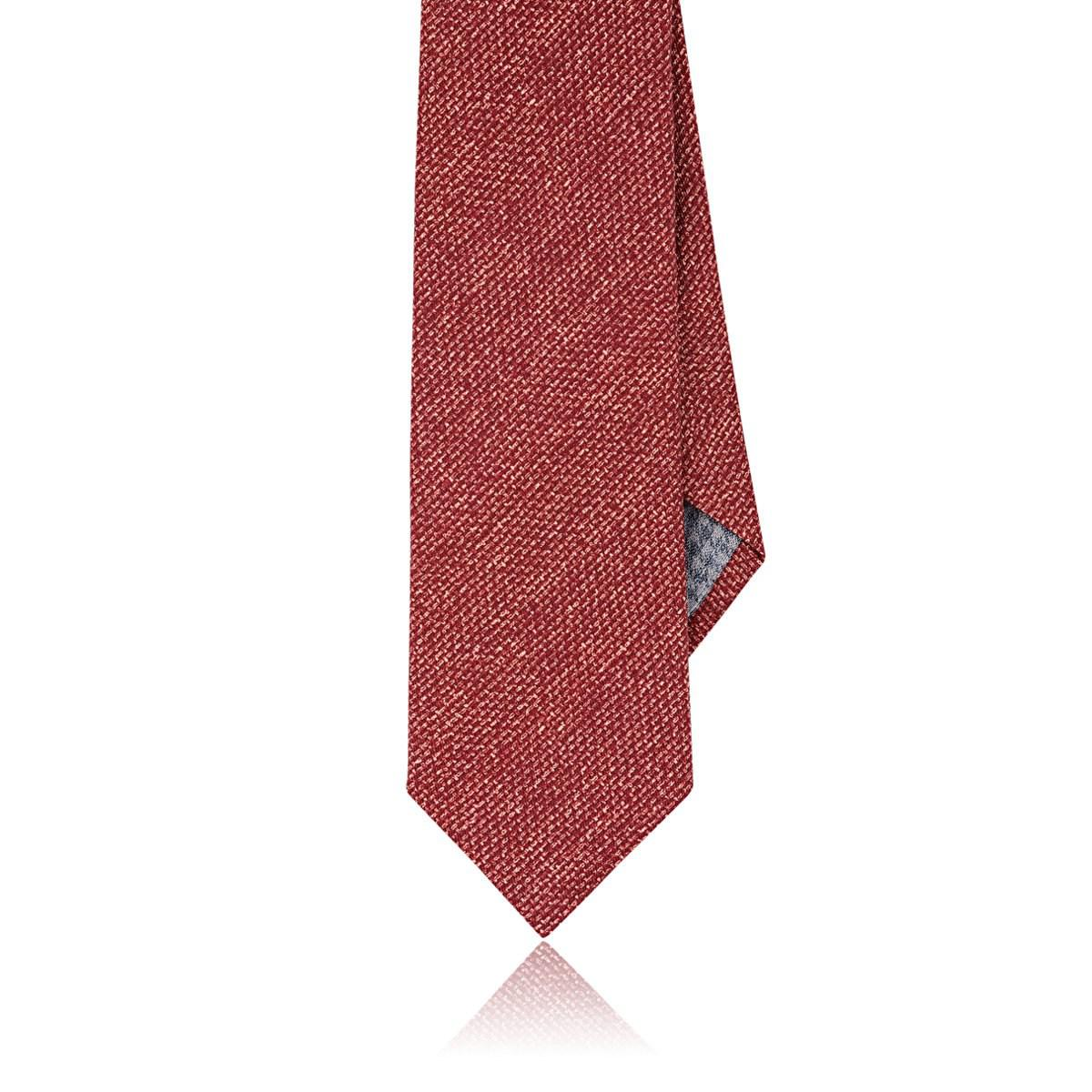 Hommes Rayé Cravate Lin Coton Tweed-look Paolo Albizzati hv8iqA8lCr