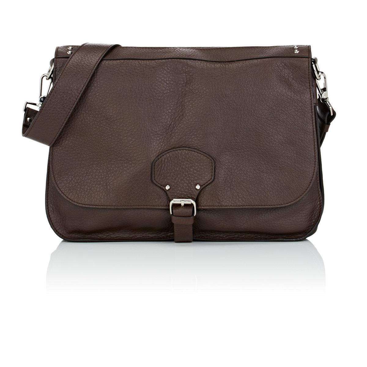 Barneys New York Leather Messenger Bag in Brown for Men - Lyst b084de8088809