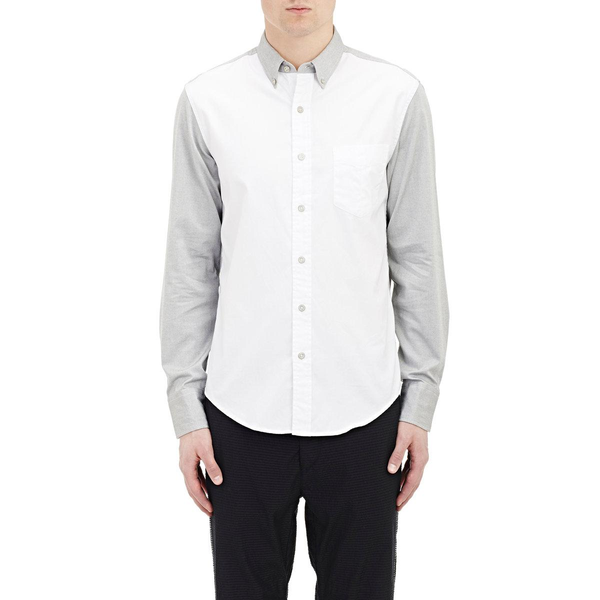Rag bone yokohama shirt in white for men lyst for Rag bone shirt