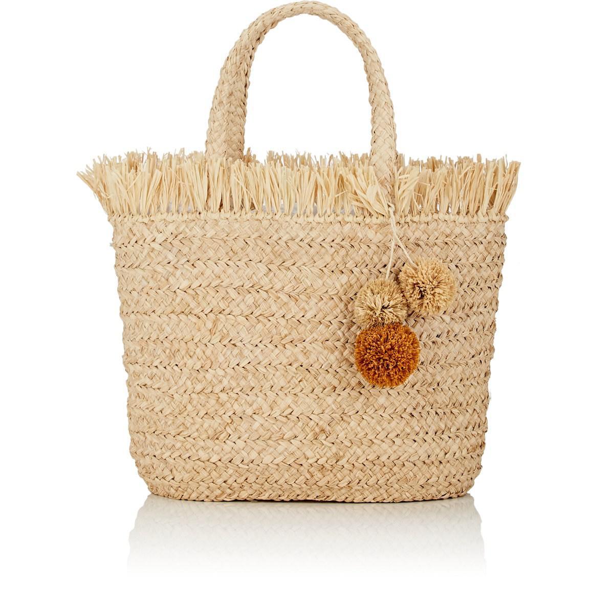 Icaria Green and Natural Raffia Beach Bag shNO3hc6