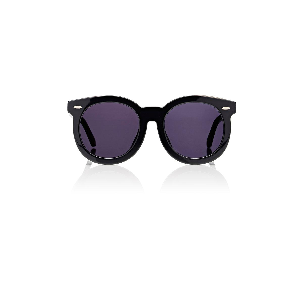 5702c01ff78 Karen Walker Alternate Fit Super Duper Thistle Sunglasses in Black ...