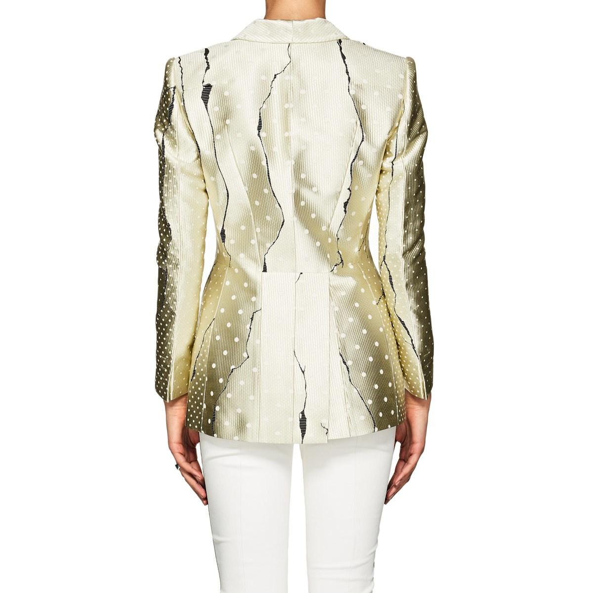 d07ea3da16138 Haider Ackermann - Yellow Abstract Jacquard Hourglass Blazer - Lyst. View  fullscreen
