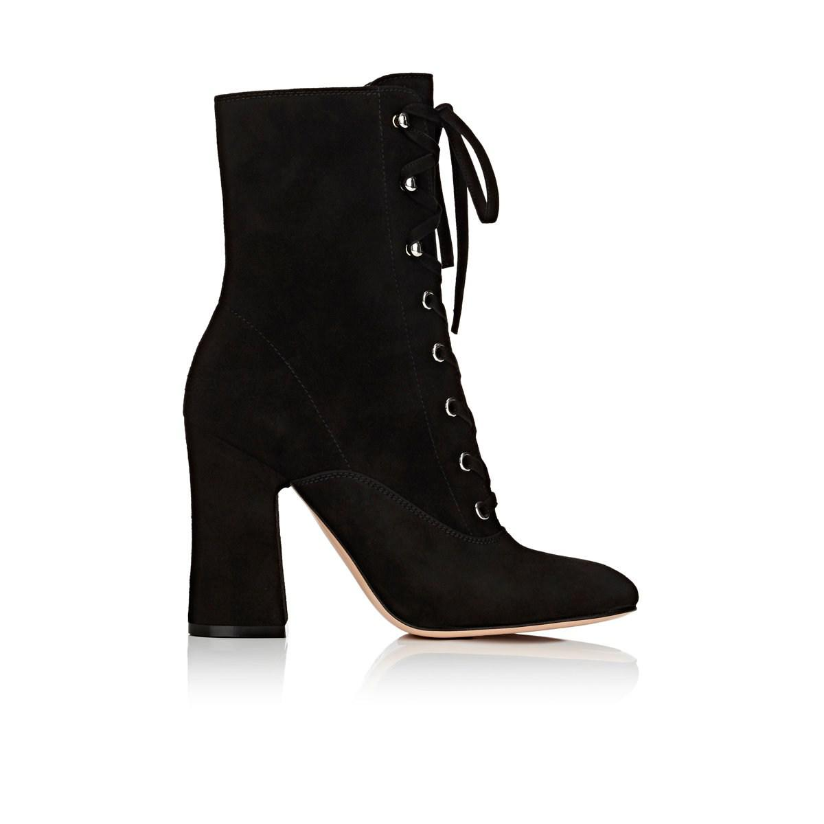 02ec40b4b870 Gianvito Rossi Mackay Suede Ankle Boots in Black - Lyst