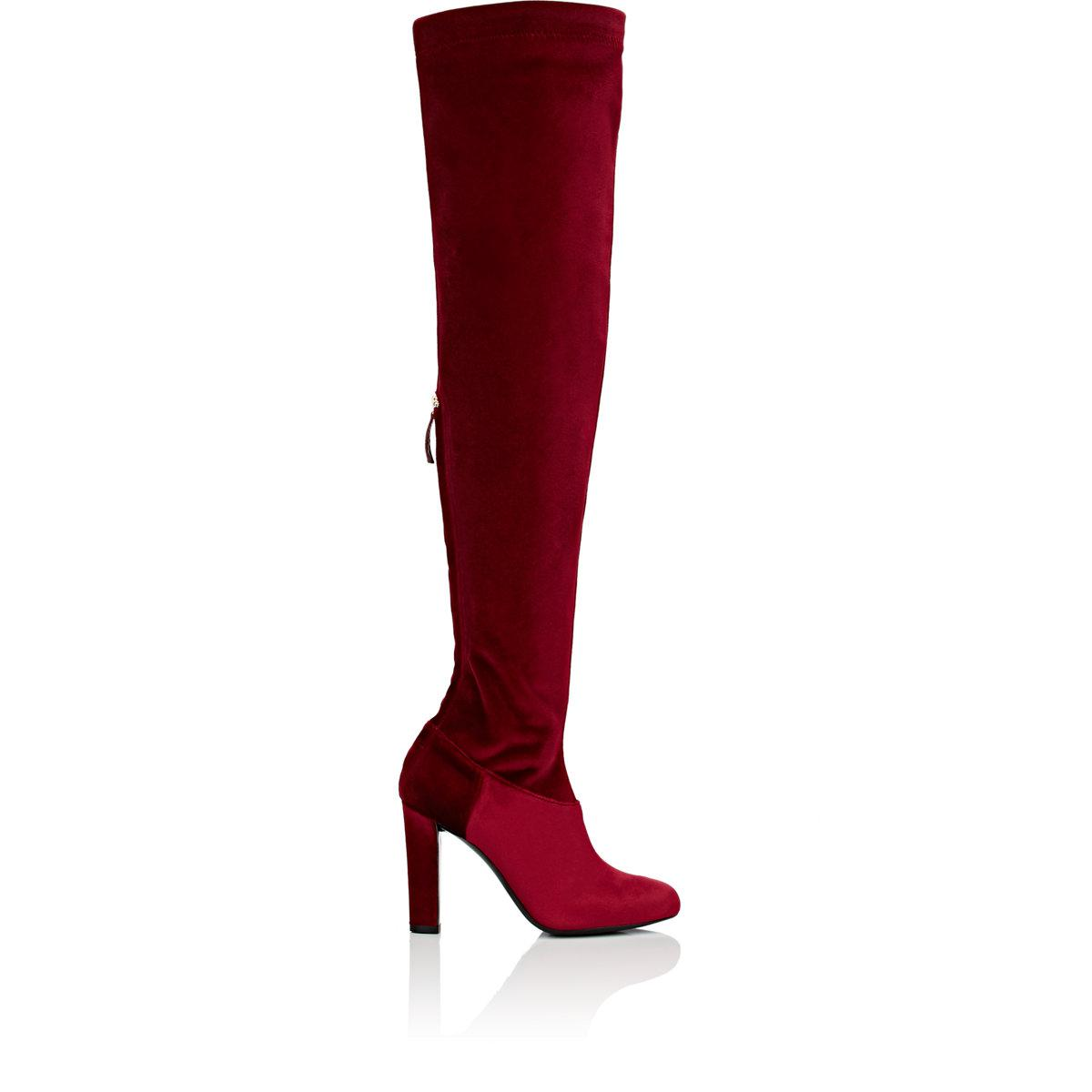 Free Shipping Outlet Store velvet over-the-knee boots - Black Alberta Ferretti Shop Cheap Online Cheap Sale Amazon Cheap Footlocker Pictures Cheap Top Quality lHxioYAv