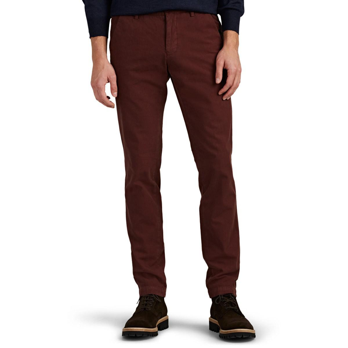 new arrival 537d5 8484e barneys-new-york-Wine-Cotton-Twill-Slim-Trousers.jpeg