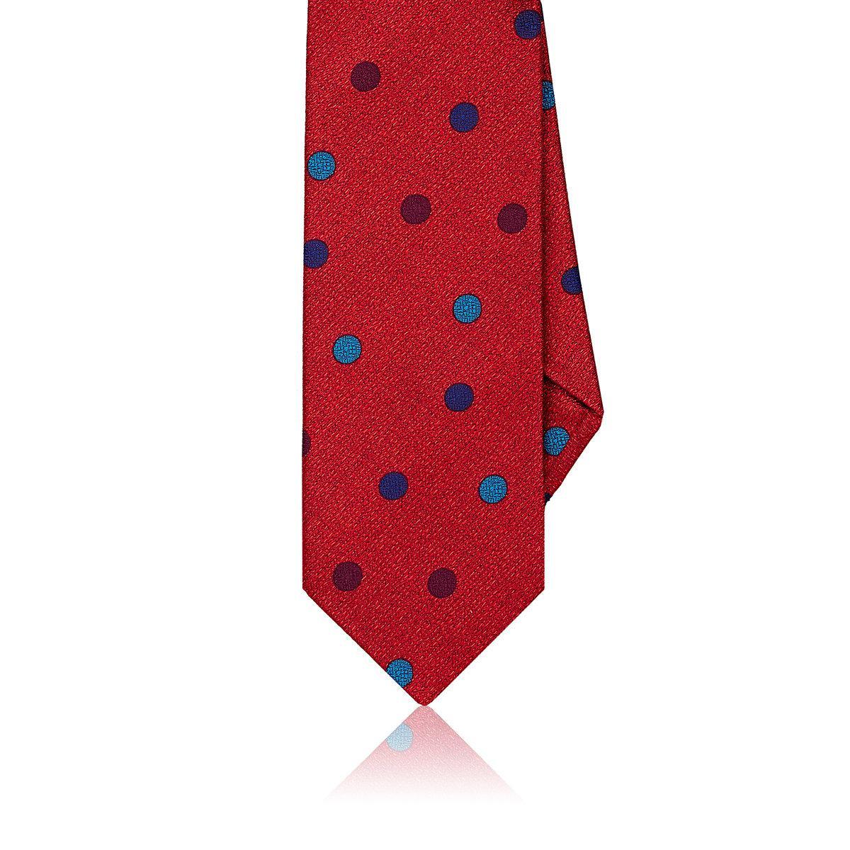 Mens Dotted Silk Jacquard Necktie Dolcepunta UC6Pwo