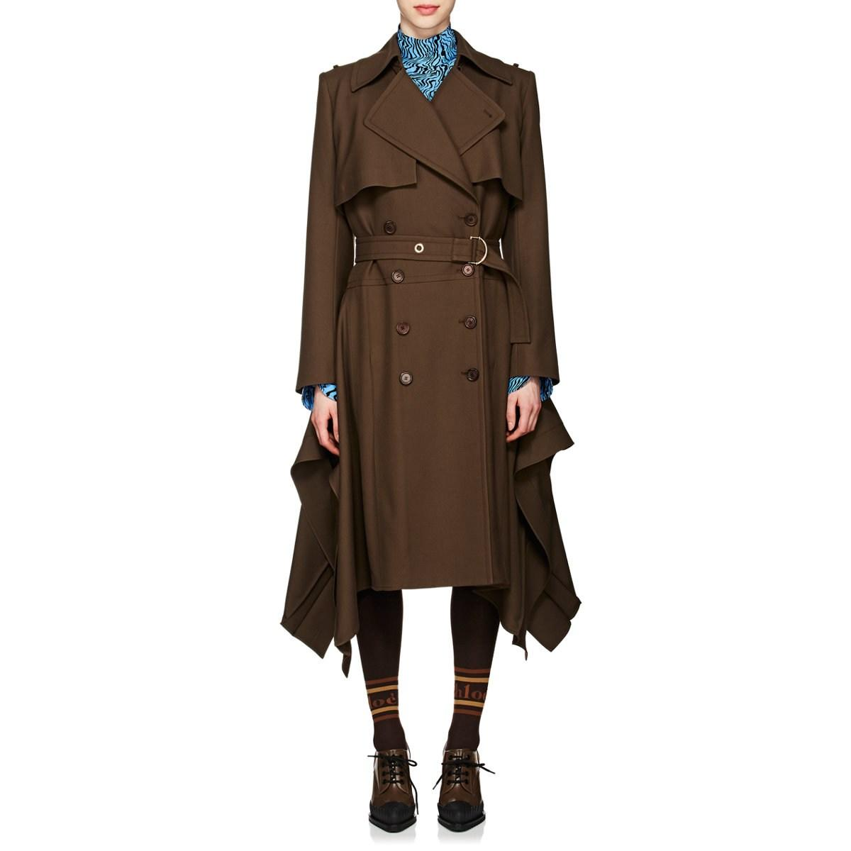 7623d3ffc3 Lyst - Chloé Wool Asymmetric Trench Coat in Brown - Save 70%