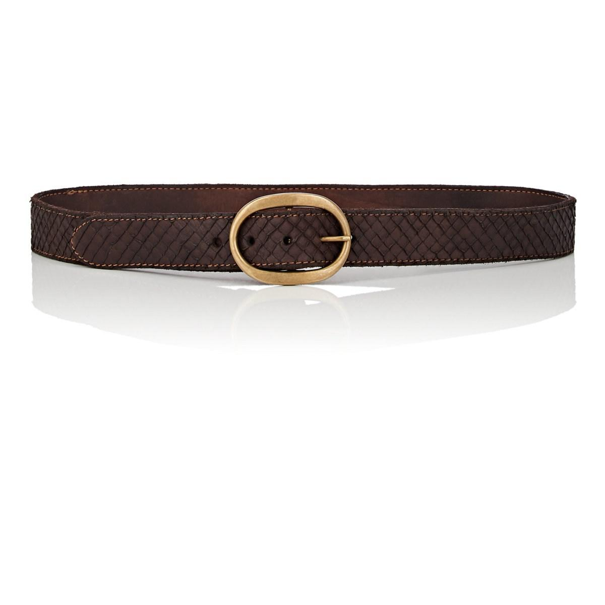 Womens Textured Leather Belt Campomaggi