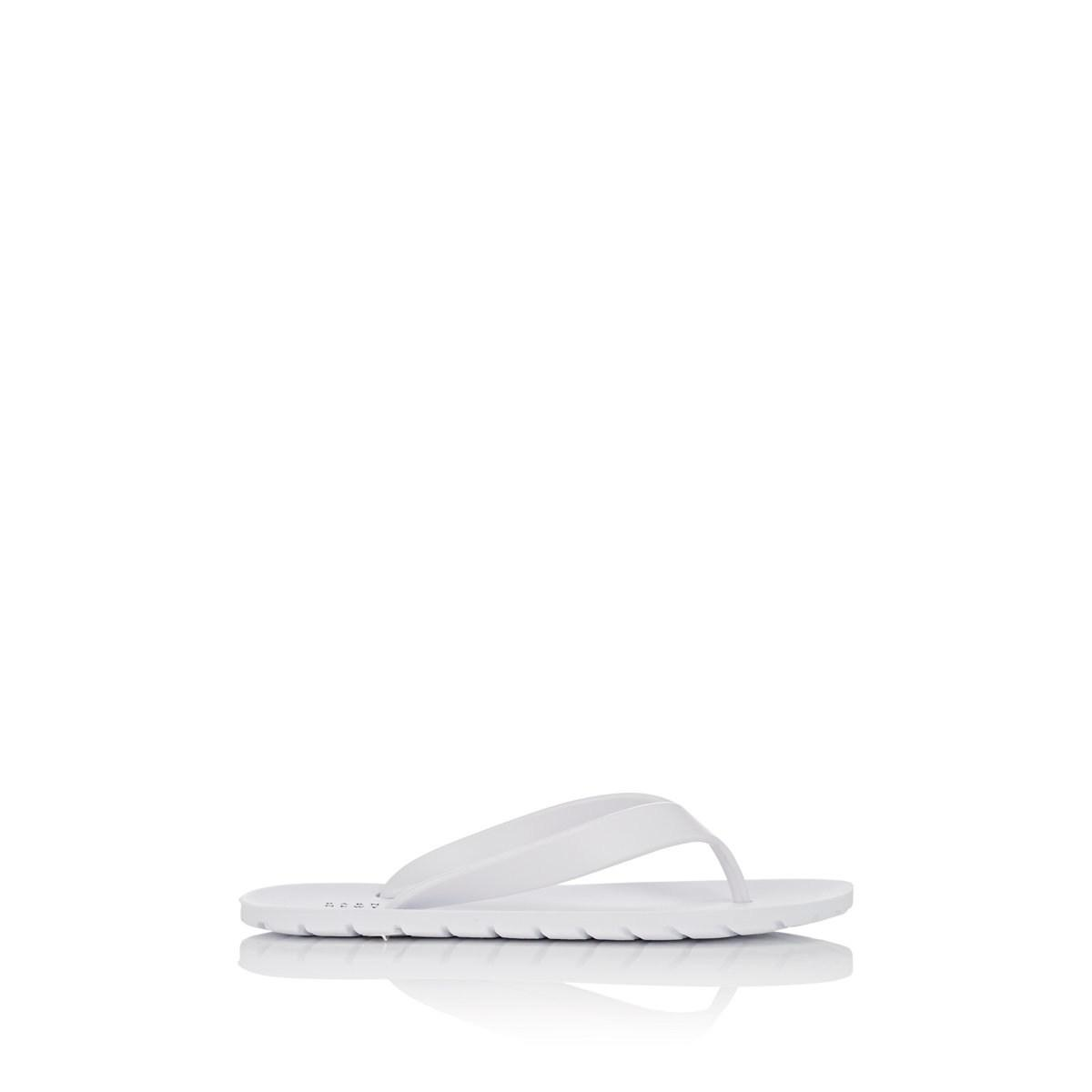 42de2ba1ec812 Lyst - Barneys New York Pvc Thong Sandals in White - Save 59%