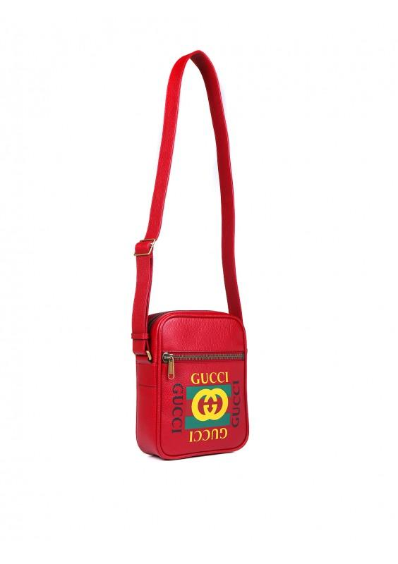 827ece89f Lyst - Gucci Red Vintage Logo Messenger Bag in Red for Men - Save 24%